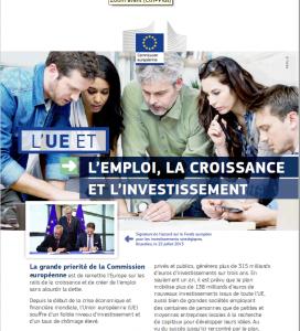 L'UE et l'emploi, la croissance et l'investissement