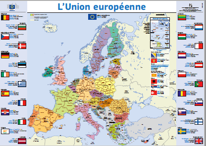 Carte De Lunion Europe.Carte De L Union Europeenne